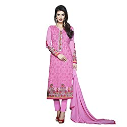 Pari Presents Pink Coloured Dress Material