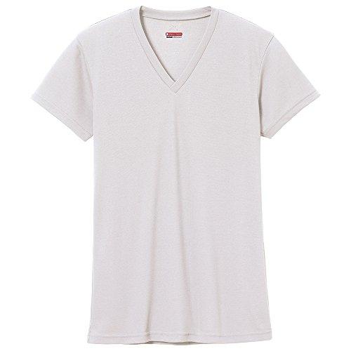 (ミズノ)MIZUNO ブレスサーモ エブリ Vネック 半袖シャツ [メンズ] C2JA5602 02 オフホワイト L
