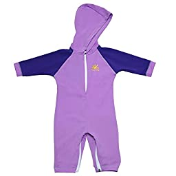 Kailua Baby Sun Protective UPF 50+ One-Piece Swimsuit by Nozone in Lavender/Purple, 0-6 Months