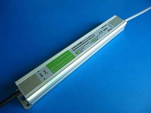 E-Age Ip67 Led Driver Waterproof 45 Watt, Led Driver Power Supply 12 Volt 3.75Amp Dc Output