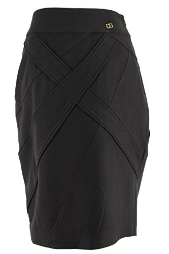 Class Roberto Cavalli Womens Pencil Skirt - Black Wool