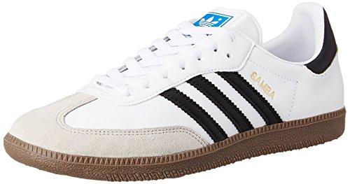 adidas Samba - Scarpe sportive da uomo, colore bianco (white/black 1/gum5), taglia 44