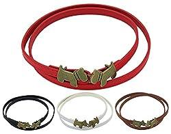 BONAMART ® Women Ladies PU Leather Skinny Slim Belt with Metal Dog Buckle 95cm Adjustable