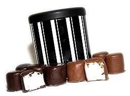 Sugar Plum Chocolates - Chocolate Dipped Marshmallows, 4-Ounce with Designer Tin (Milk and Dark Chocolate)
