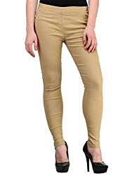 Atharv Collections Women's Jeggings (Beige_34_Beige_34)
