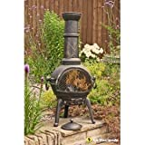 La Hacienda Sierra Cast Iron Chiminea - Large Bronz