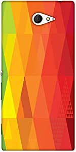 Snoogg Rhombuses 25600 2927 Designer Protective Back Case Cover For Sony Xperia M2