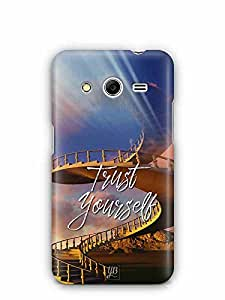 YuBingo Trust Yourself Designer Mobile Case Back Cover for Samsung Galaxy Core 2