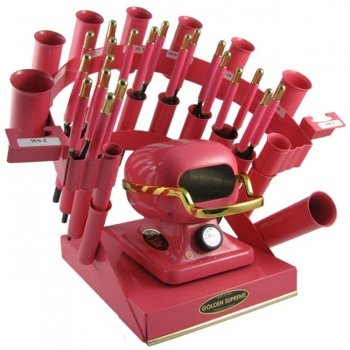Golden Supreme Iron Stove Rainbow Styling Set Hot Pink (Hot Comb And Stove compare prices)