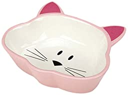 Cat Is Good, Ceramic Cat Dish, 5oz, Pink