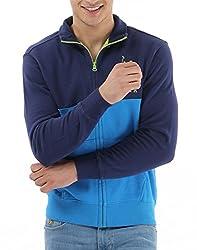 US POLO ASSOCIATION Men's Fleece Sweater (USSS0182_Blue_Small)