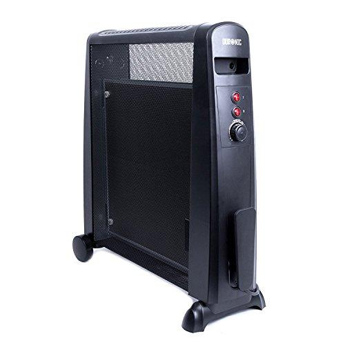 Duronic HV101 Radiateur en mica sans huile de 2500 Watts avec thermostat - chauffe en une minute - garanti 2 ans
