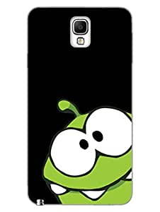 Crazy Frog With Funny Eyes - Hard Back Case Cover for Samsung Note3 - Superior Matte Finish - HD Printed Cases and Covers