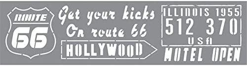 Andy Skinner Mixed Media Stencil 12quotX3quot-Route 66