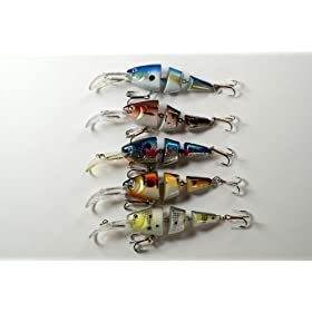 "Lot of Five 3.5"" Shallow Diving Sigi Swimbait Fishing Lures for Bass & Trout"