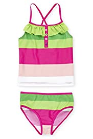 Square Neck Striped Tankini