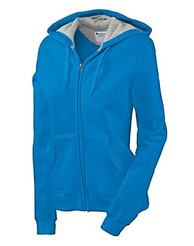 Champion Women's Eco Fleece Jacket, Slj Confetti Blue, Large