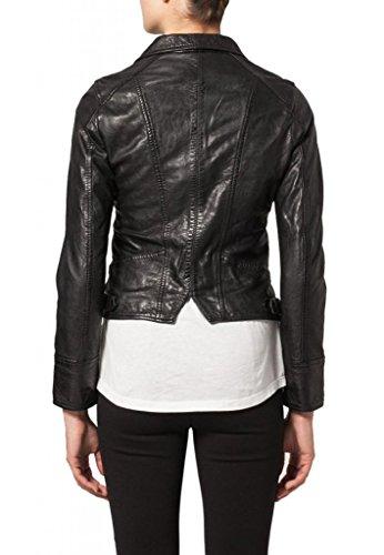 KGN FASHION Women Cow Leather Jacket WC044 S Black