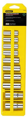 Stanley 95-446 11-Piece 1/2-Inch Drive Deep Socket Set, Metric