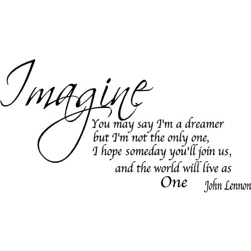 quote it imagine removable wall quote john