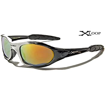 X-Loop Lunettes de Soleil - Sport - Cyclisme - Ski - Conduite - Motard / Mod. 2044 Noir Gris Spectrum / Taille Unique Adulte / Protection 100% UV400