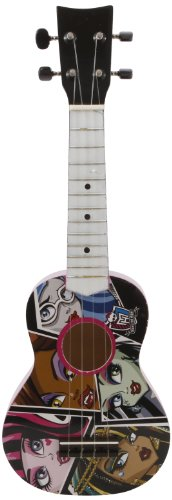 Monster High 21-Inch Acustic Guitar - Black/White (86048) front-664819