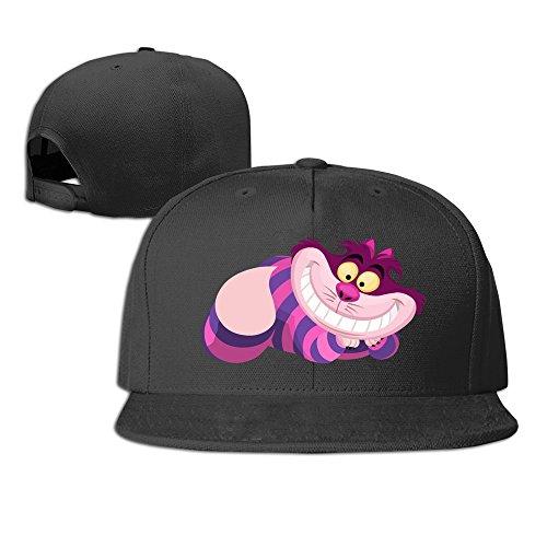 Alice In Wonderland Cheshire Cat Lounging Baseball Snapback Cap Black (Cheshire Cat Cap compare prices)