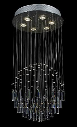 Modern chandelier rain drop crystal chandeliers lighting for Contemporary chandeliers amazon