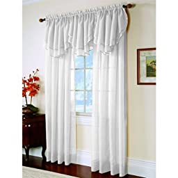 Elegance Sheer Curtain Panel 60\'\' x 63\'\' long - White