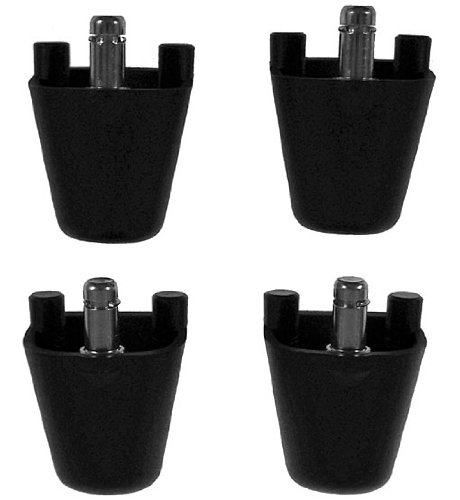 "Ball Chair Height Adapters For Isokinetics Inc. Brand Plastic Frame Ball Chairs - Set Of 4 - Black - Adds 2"" front-864137"