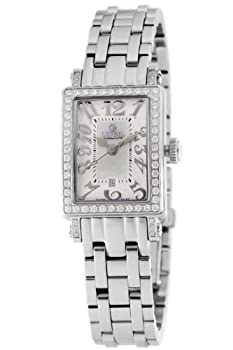 Gevril Women's 8249NLB Super Mini Quartz White Mother of Pearl Diamond Watch from Gevril