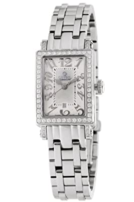 Gevril Womens 8249nlb Super Mini Quartz White Mother Of Pearl Diamond Watch by Gevril