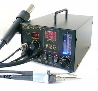 Purchase NEW!! Updated Aoyue 968A+ SMD Digital Hot Air Rework Station, 4 in 1 station has Hot Air, a...