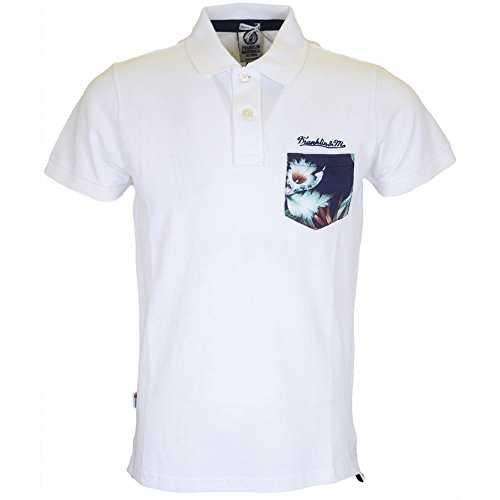 Franklin & Marshall Men's Polo Piquet Classic Short In Size Xxl White