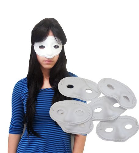 A Dozen White Eye Masks - Set Of Dozen Simple Eye Masks In White