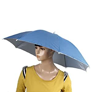 White elastic band blue umbrella hat 40cm long for amazon for Fishing hats walmart