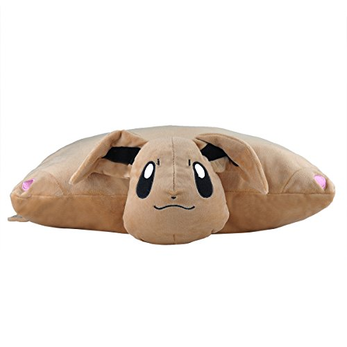 Katara 1750 Pokémon Go puscheliges ratina per cuscino peluche/peluche con idea come regalo Evoli morbido, XXL, 40 cm, marrone