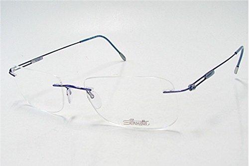 SILHOUETTE Chasis 7534 Titan Next Generation III 6080 Straight Blue Optical Eyeglasses Frame (Bridge:17 Temple:140)
