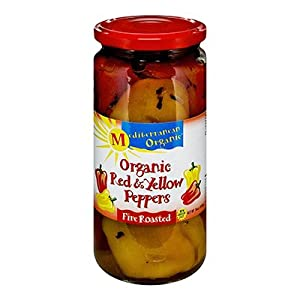 Mediterranean Organic Red and Yellow Peppers Fire Roasted -- 16 oz