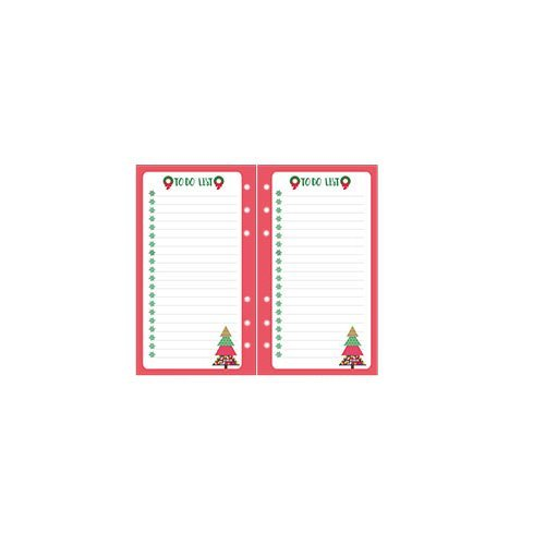 Chris-Wang 50 Sheets Cute Chrismas Refills Inserts Loose Leaf Filler Paper Pages for 6-Ring Binder/Journal/Dairy/Day Planner/Notebook, Track Chores, Tasks and Appointments, A6 Size (To Do List) (Loose Leaf Personal Finance compare prices)