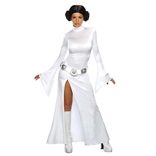 [Women's Halloween & Party Star Wars Costume Princess Leia Cosplay White Long Dress (XL)] (Star Wars Leia Sexy)