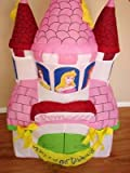 gemmy inflatables:4' Disney little princess Happy birthday celebration Inflatable fortress by Gemmy