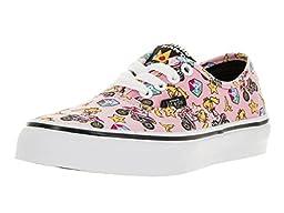 Vans Kids Authentic (Nintendo) Princess Peach Skate Shoe 11.5 Kids US