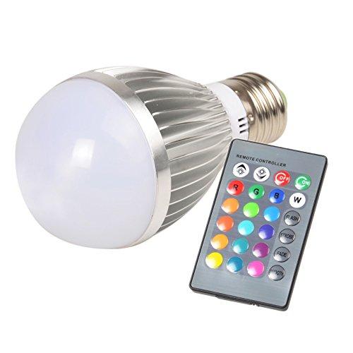 Atorcher RGB LED Lampe / Strahler mit Fernbedienung E27 5 Watt multicolor (farbwechsel)