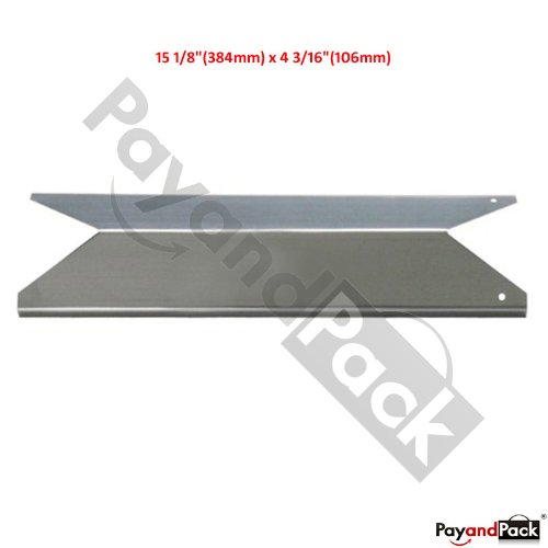 91191 (1-Pack) Universal BBQ Replacement Gas Grill Stainless Steel Heat Plate Shield Tent For Kenmore Sears, Nexgrill, Uniflame, And Other Model Grills