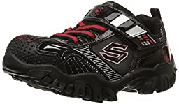 Skechers Kids Star Wars Damager III Hypernova Light-Up Sneaker (Toddler/Little Kid), Black/Red, 7 M US Toddler