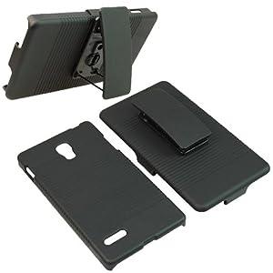 BW Hard Cover Combo Case Holster for T-Mobile LG Optimus L9 -Black