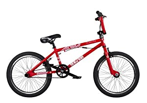Barracuda Boys' Stance Freestyle BMX Bike - Satin Red, 20 Inch