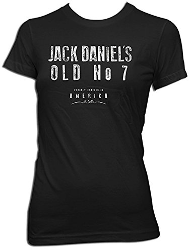 Jack Daniels Women's Daniel's Crafted In America Short Sleeve T-Shirt Black Large (Jack Daniels Apparel For Women compare prices)