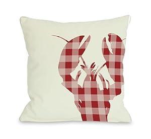 Bentin Home Decor Plaid Lobster Throw Pillow